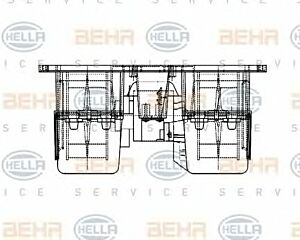 Air Conditioning fan 8EW009157-531 by BEHR