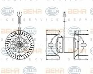 Air Conditioning fan 8EW009159-201 by BEHR