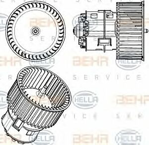Air Conditioning fan 8EW351104-441 by BEHR