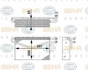 Air Conditioning Evaporator AE 67 000P / 8FV351211-761 / 70818559 by Behr