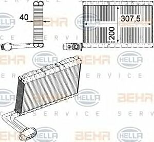 Air Conditioning Evaporator AE 109 000P / 8FV351331-191 / 70818594 by Behr