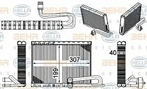Air Conditioning Evaporator AE 121 000P / 8FV351331-471 / 70818603 by Behr