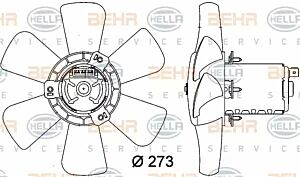 Air Conditioning fan 8EW009144-401 by BEHR