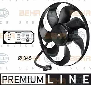 Air Conditioning fan 8EW009144-531 by BEHR