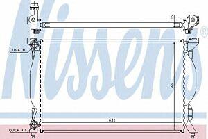 60304A Nissens Radiator engine cooling