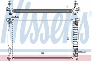 60300A Nissens Radiator Thermal engine cooling