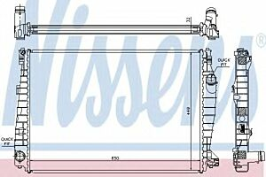 60061 Nissens Radiator engine cooling