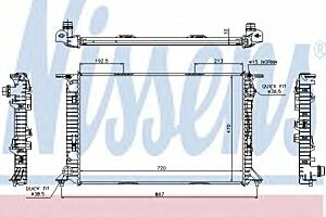 60319 Nissens Car Radiator Thermal engine cooling