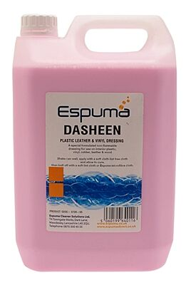 Dasheen Plastic, Leather & Vinyl Dressing SemiMatt Finish 5 Litre 072005 ESPUMA