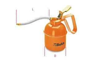 Beta Tools 1751 Pressure Oil Can (Metal) Flexible Spout 500cc | 017510005