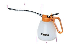 Beta Tools 1753 Pressure Oil Can (Plastic) Flexible Spout 500cc | 017530005
