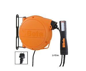 Beta Tools 1846LED/BM Automatic Cable Reel w/ LED inspection Lamp 100-240 Vac