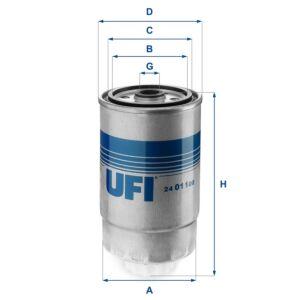 24.011.00 UFI Fuel Filter