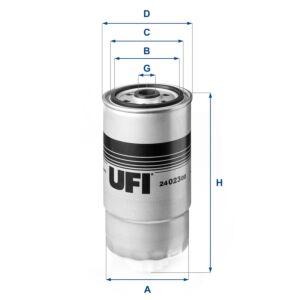 24.023.00 UFI Fuel Filter