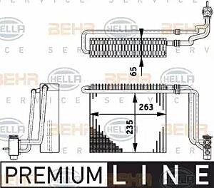 Evaporator Air Conditioning 8FV351211-741 by BEHR