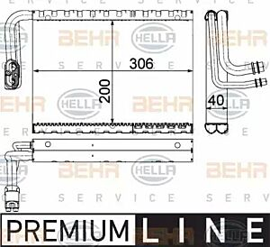 Evaporator Air Conditioning 8FV351330-701 by BEHR