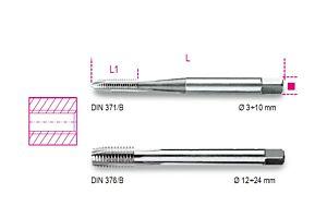 Beta Tools 428FP HSS Machine Tap Coarse Thread M24 x 3mm   004280024