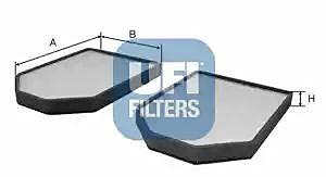 53.009.00 UFI Interior Air Cabin/ Pollen Filter Set Of 2