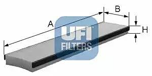 53.016.00 UFI Interior Air Cabin/ Pollen Filter