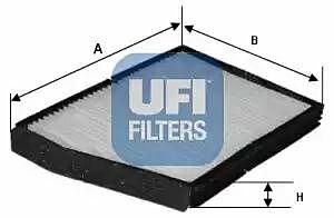 53.018.00 UFI Interior Air Cabin/ Pollen Filter