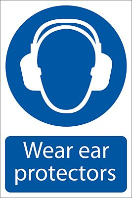 Draper 'Ear Protectors' Mandatory Sign   72063