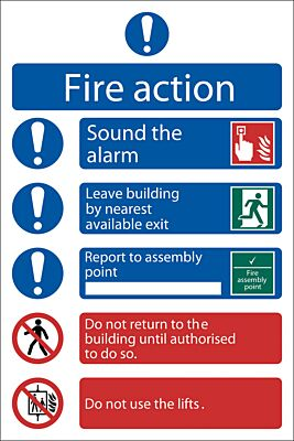 Draper 'Fire Action Procedure' Mandatory Sign   72156