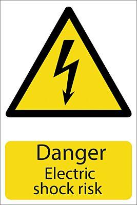 Draper 'Danger Electric Shock' Hazard Sign   72225