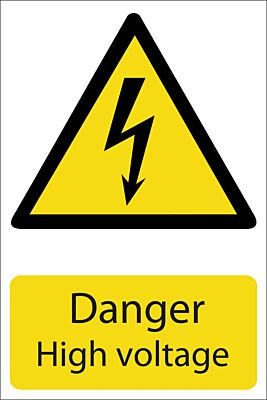 Draper 'Danger High Voltage' Hazard Sign   72237
