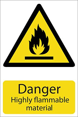 Draper 'Danger Flammable Material' Hazard Sign   72352