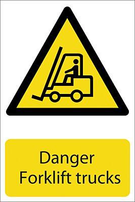 Draper 'Danger Forklift Trucks' Hazard Sign   72360