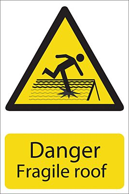 Draper 'Danger Fragile Roof' Hazard Sign | 72395