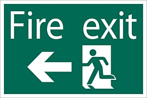 Draper 'Fire Exit Arrow Left' Safety Sign | 72448