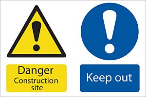Draper 'Danger Construction Site' Hazard Sign   72915