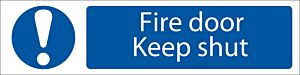 Draper 'Fire Door Keep Shut' Mandatory Warning Sign   73104