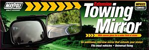 Towing Extension Mirror - Convex Glass 8322 MAYPOLE
