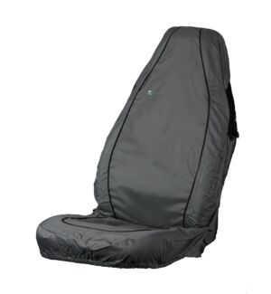 Car Seat Cover Air Bag Compatible - Front Single - Grey TOWN & COUNTRY ABCGRY