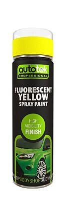 Aerosol Paint - Fluorescent Yellow - 500ml ATOOFLY500 AUTOTEK
