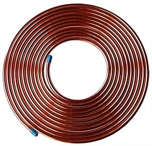 "25ft Fuel Brake Malleable Copper Petrol Pipe Tube 3/16"" OD x 0.131"" ID Car"