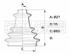 Cv Joint Boot Kit Bellow FCB1003 by First Line