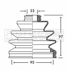 Cv Joint Boot Kit Bellow FCB2063 by First Line