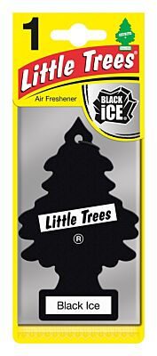Black Ice - 2D Air Freshener LITTLE TREES MTO0004