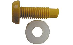 Number Plate Plastic Nut & Screw - Yellow PWN085 WOT-NOTS