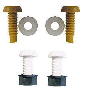 Number Plate Screws & Nuts White & Yellow M6 x 23mm Pack Of 4 PWN547 WOTNOTS