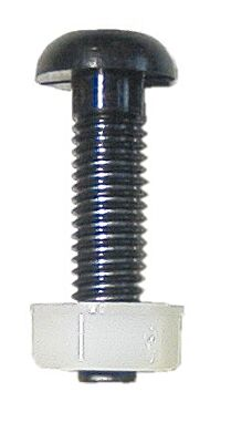 Number Plate Screw & Nut - Black - M6 x 23mm  PWN627 WOT-NOTS