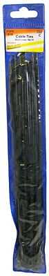 Cable Ties - Standard - Black - 300mm - Pack Of 20 PWN810 WOT-NOTS