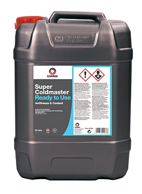 Super Coldmaster Antifreeze & Coolant - Ready To Use - 20 Litre SCC20L COMMA