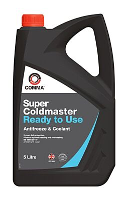Super Coldmaster Antifreeze & Coolant - Ready To Use - 5 Litre SCC5L COMMA