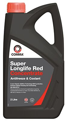 Super Longlife Antifreeze & Coolant - Concentrated - 2 Litre SLA2L COMMA