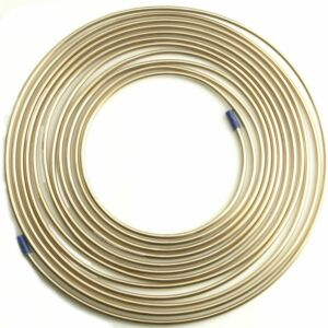 25ft x Malleable Cupro Copper Nickel Brake Petrol Car Pipe 1/4