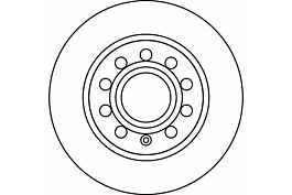 Key Parts KBD4598 Brake Disc Pair Rear